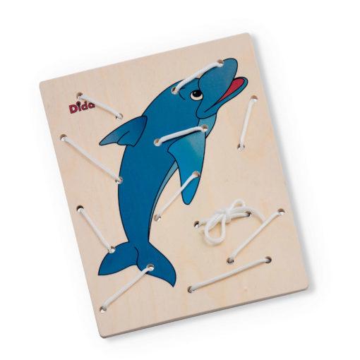 Allacciatura Delfino - coordinamento occhio mano, attività di motricità -Dida