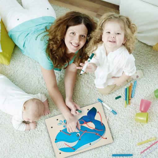 Telai delle allacciature - Allacciatura Balena - gioco di pazienza e motricità fine - Montessori - Dida