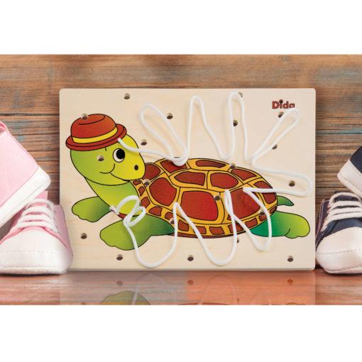 Allacciatura tartaruga-gioco didattico di coordinazione concentrazione-Dida