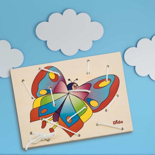 Allacciatura Farfalla attività didattica di motricità fine - Montessori - Dida