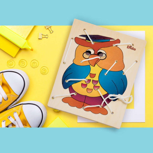 Allacciatura Gufo - telai delle allacciature materiali Montessori - Dida