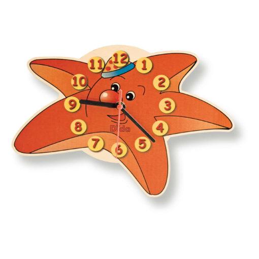 Orologio da parete con Stella Marina - Accessori in legno camerette - Dida