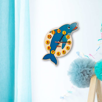 orologio parete delfino