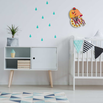 Orologio di legno per bambini Medusa - orologio bambino da parete - Dida