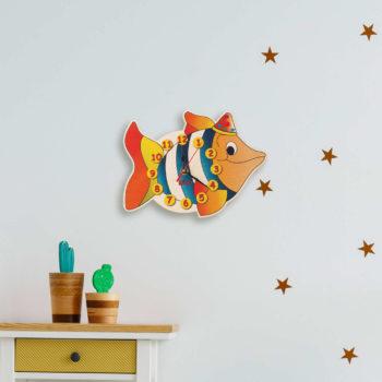 orologio parete pesce