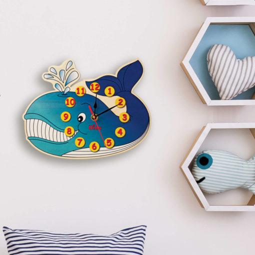 orologio parete balena