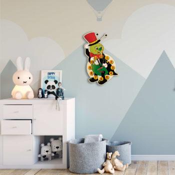Orologio in legno da cameretta - Grillo orologio in legno per bambini - Dida