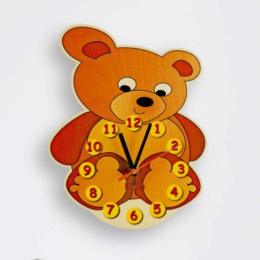 Orologio legno bambino - orologio Orso per la cameretta dei bambini - Dida
