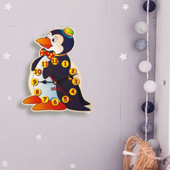 orologio parete pinguino
