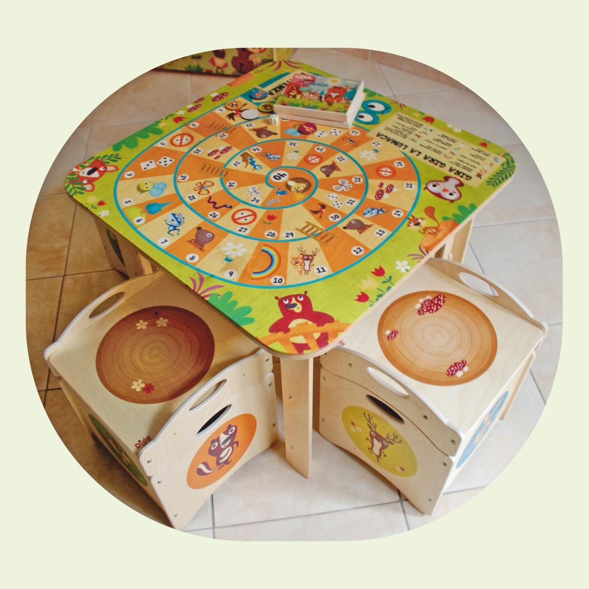 Tavolo gioco bambino in legno rivisitazione del gioco - Tavolo contenitore bambini ...
