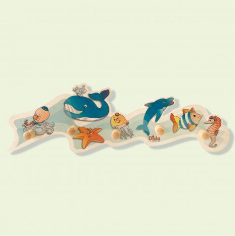 Appendiabiti bambini – Animali marini