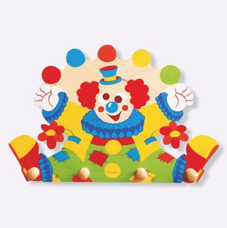 Appendiabiti legno per bambini – Clown