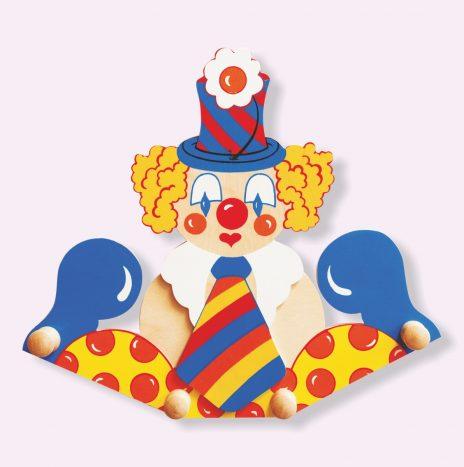 Attaccapanni da parete per bambini – Clown cravatta