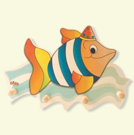 Appendiabiti cameretta dei bambini – Pesce