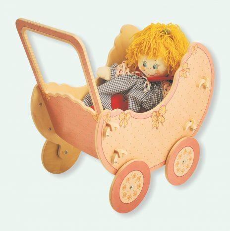 Carrozzina bambole Rosa