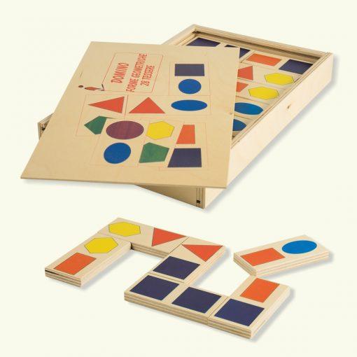 Domino Forme Geometriche - Gioco del domino - Gioco di società - Dida