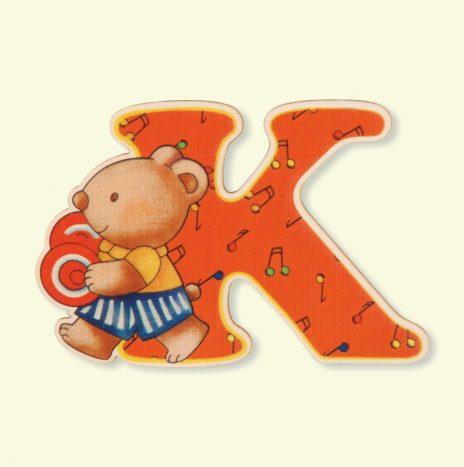 Lettera di legno K