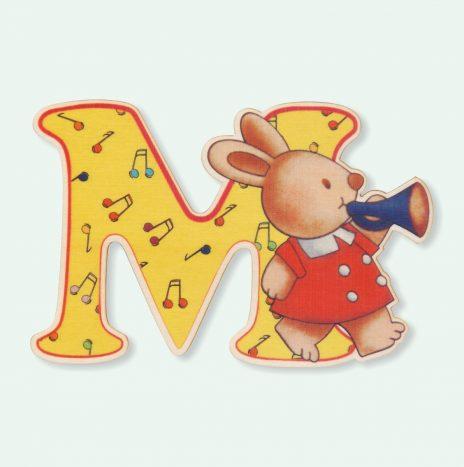 Lettera in legno M