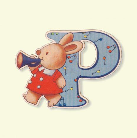 Lettera in legno P