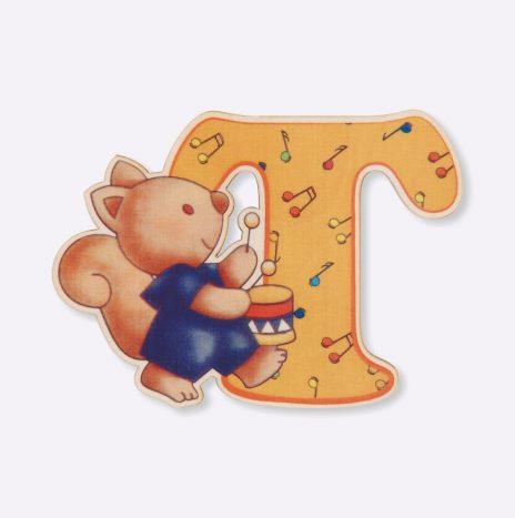 Lettera di legno T