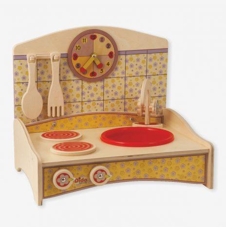 Mini Cucina gioco con decoro giallo