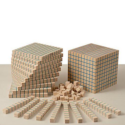 Blocchi Multibase base 10 - giochi didattici e di matematica - metodo Dienes - Dida