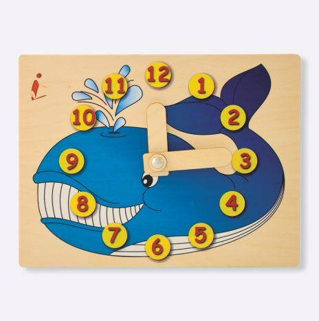 Orologio didattico Balena