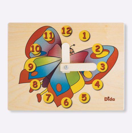 Orologio didattico Farfalla