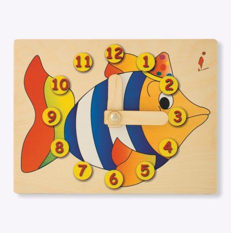 Orologio didattico Pesce