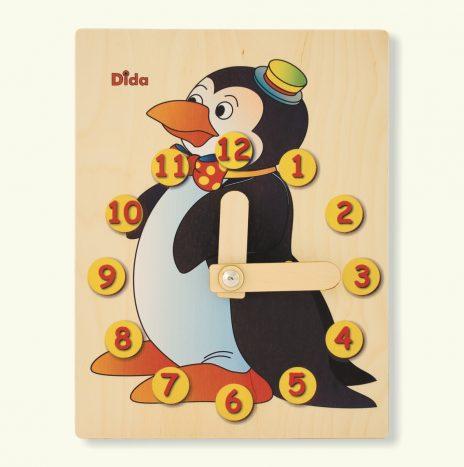 Orologio didattico Pinguino