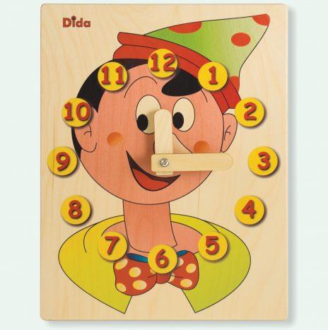 Orologio didattico Pinocchio Viso