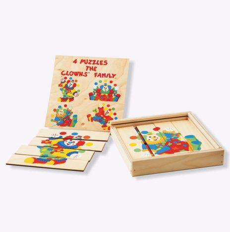 4 Puzzle semplificato clowns