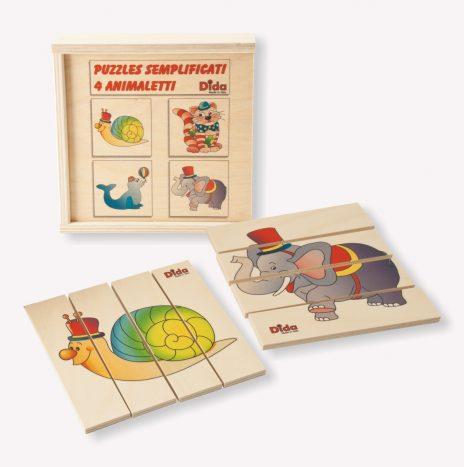 Puzzle semplificato 4 animaletti