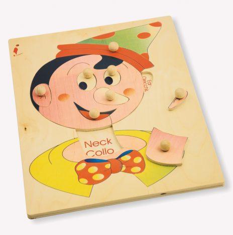 Puzzle schema corporeo viso Pinocchio