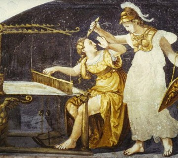 Aracne, la tessitrice che sfidò Atena