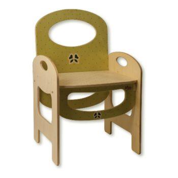 Sedia in legno per bambini per arredare la cameretta dei bimbi decoro pois