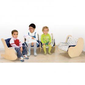 Salottino per bambini in legno, arredare asili in stile Montessori - Dida