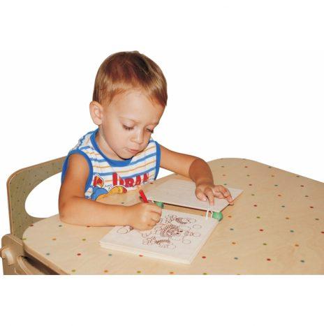 Tavolo per bambini in legno decoro Pois