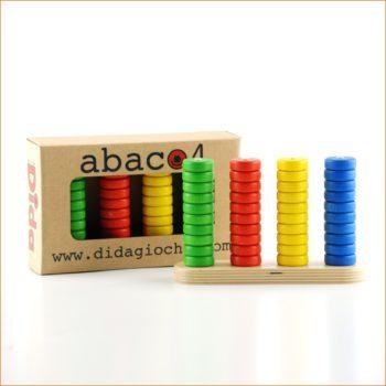 Abaco 4 è un gioco didattico - un gioco di matematica per imparare a contare