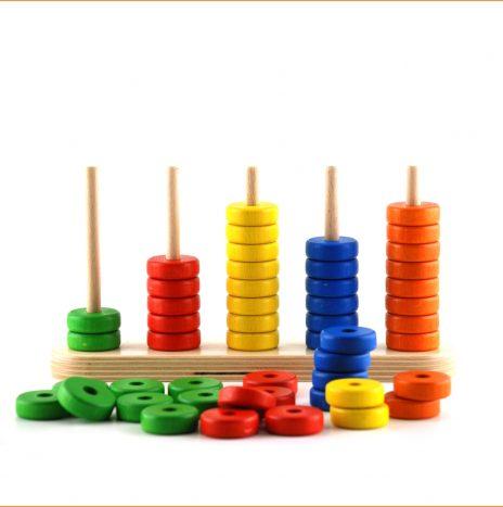 Abaco 5 – gioco in legno-didattico-matematico