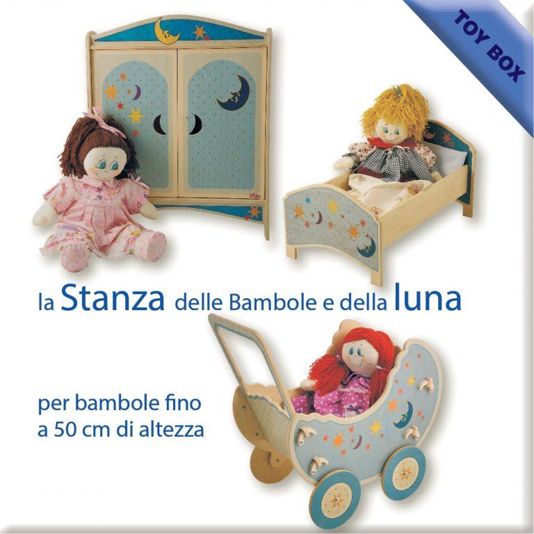 la stanza delle bambole e della luna con carrozzina
