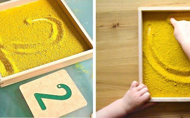 Scrivere con le dita. Alfabeto per bambini