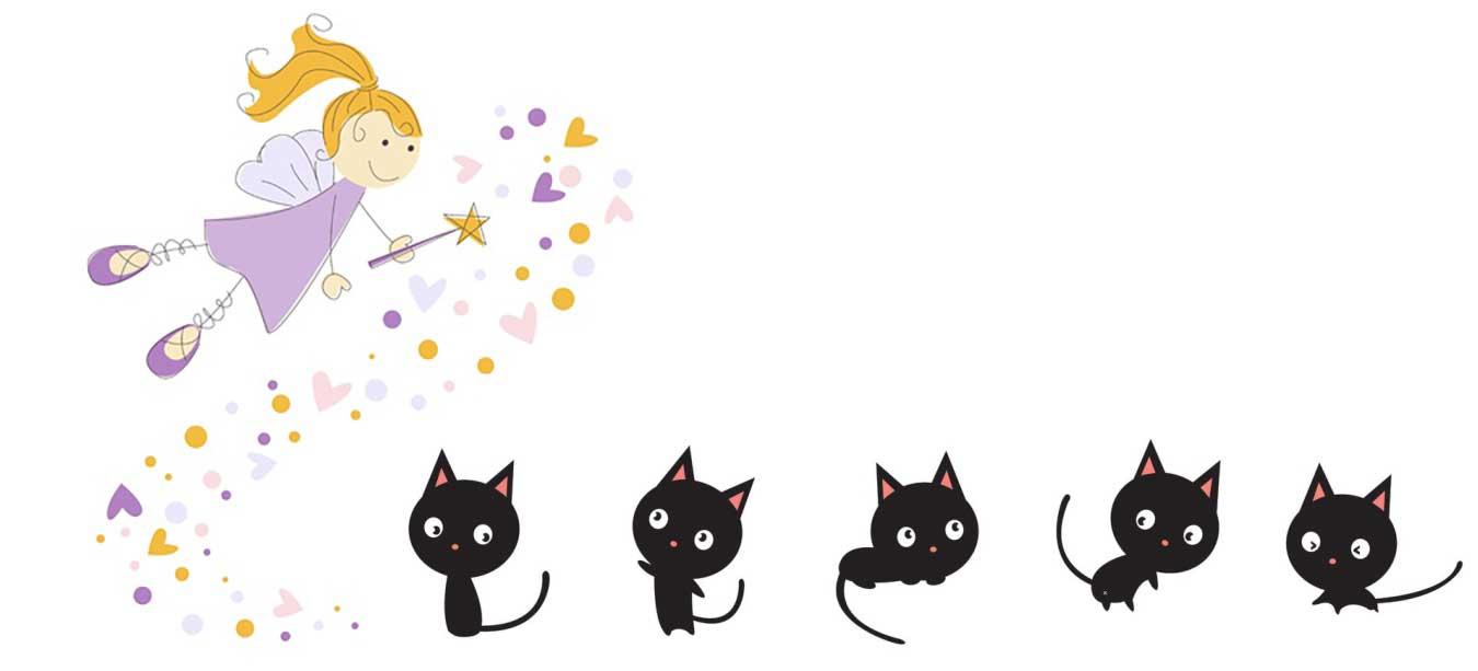 Poesie per bambini - Il gatto Nerino e la fata Lucetta - Poesia fantastica
