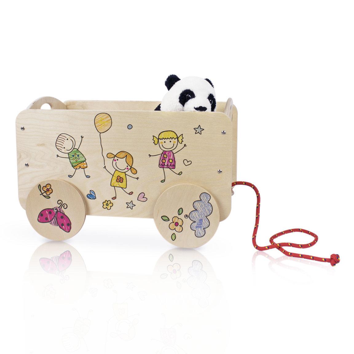 Carretto bambini bimbi allegri arredo cameretta porta for Mobili portagiochi per bambini