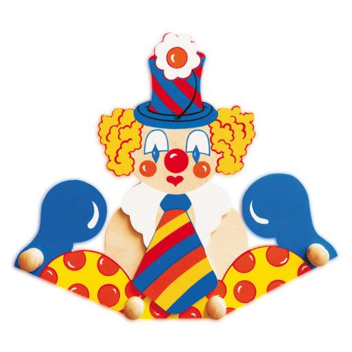 Attaccapanni da parete per bambini – Clown cravatta che arreda - Dida