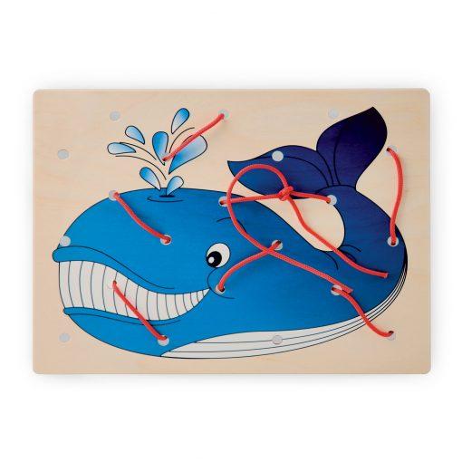 Allacciatura Balena - gioco di pazienza e motricità fine - Montessori - Dida