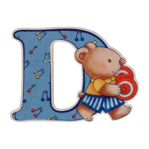 Lettera in legno D