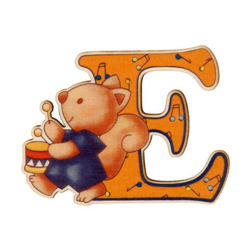 lettera in legno E