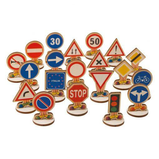 Segnali stradali, gioco educativo per bambini