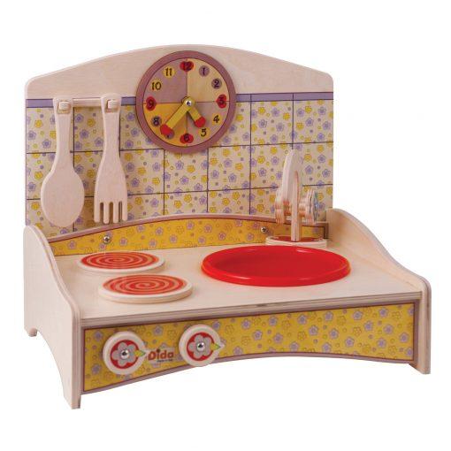 Mini Cucina giocattolo in Giallo per piccoli chef e giochi simbolici - Dida